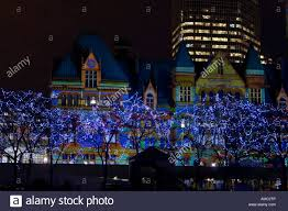 christmas light show toronto holiday lights in nathan phillips square and immersion light show on
