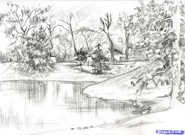 how to sketch trees step by step landscapes landmarks u0026 places