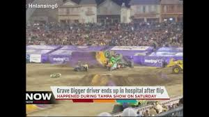 monster truck show tampa fl driver of grave digger injured in monster jam show in tampa