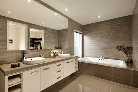 beautiful cream bathroom decoration using light brown caesar stone