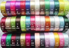 ribbon color 2018 25mm satin ribbon assorted color 5rolls125yards from