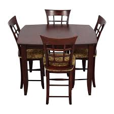 Table And Four Chairs New 48 Off High Top Dining Table With Four