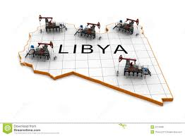 Map Of Libya Oil Pump Jacks On A Map Of Libya Stock Image Image 20740681
