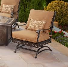 Agio Patio Furniture Cushions Agio Ashmost Outdoor Cast Aluminum Chair With Cushions