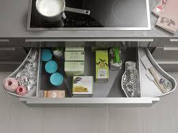 table cuisine escamotable tiroir accessoires cuisines krëfel