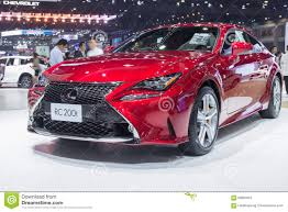 new lexus rc 200t lexus rc 200t couper showed in thailand the 37th bangkok