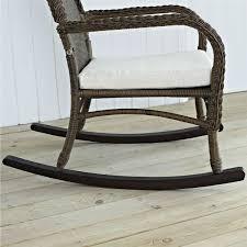 Rocking Chair Outdoor Furniture Wicker Patio Furniture Rocking Chair Mocha With Beige Cushion