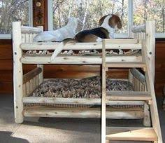 Dog Bunk Beds With Stairs New Deluxe Hand Crafted Wooden Dog - Large bunk beds
