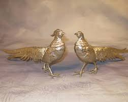 pheasant figurine etsy