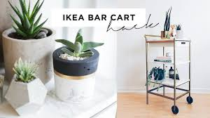 ikea bar cart hack marble and gold diy 35 youtube
