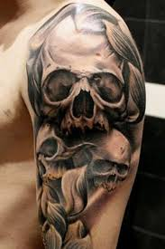 69 impressive skull shoulder tattoos