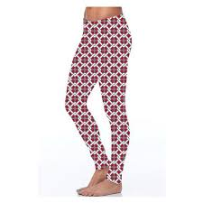 red patterned leggings pants leggings more the sugared pear boutique