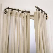 gorgeous swing curtain rod 125 swing curtain rod set of 2 swing