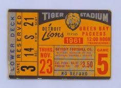 1943 nfl ticket stub detroit lions green bay packers briggs