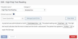 customizing clinical note templates u2013 dentrix ascend