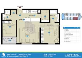 floor plans of meera i u0026 ii al reem island