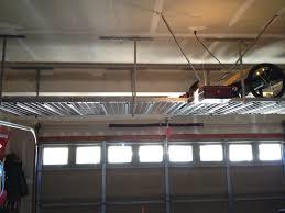garage storage loft ideas massive overhead garage storage shelving