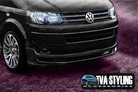 vw t5 front bumper spoiler deep black pearl lb9x vw