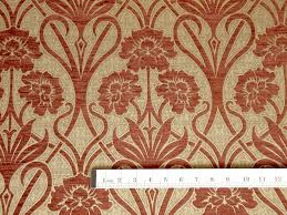Jacquard Wallpaper Living Room Terracotta On Gold Jacquard Upholstery Fabric Drapery Fabric