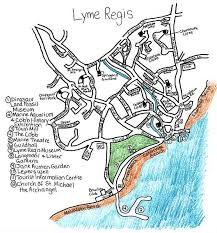 Lyme Map Local Route Lyme Regis