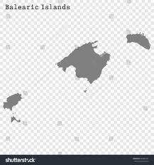 Spain Regions Map by High Quality Map Balearic Islands Region Stock Vector 664887901