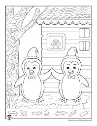 winter penguins hidden picture printable woo jr kids activities