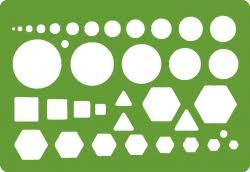 architectural and engineering drawing templates and plastic stencils