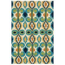Outdoor Rug Turquoise by Capri Ikat Bright Outdoor Rug U2013 Sky Iris