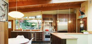 exposed plywood edge cabinets retro period house integrated