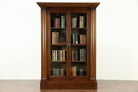 ikea bookshelves with glass doors furniture bookcase with glass doors wooden bookshelves