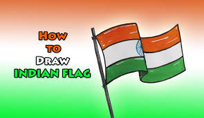 how to draw indian flag drawing step by step drawing for kids