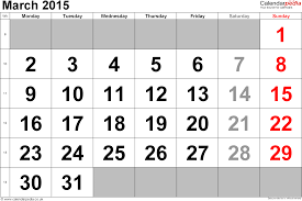 calendar march 2015 uk bank holidays excel pdf word templates