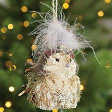 fanciful hedgehog ornament all gifts olive cocoa