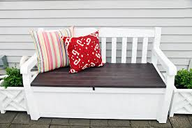 iheart organizing june monthly challenge outdoor storage bench