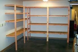 Woodworking Storage Shelf Plans by Diy Hanging Garage Shelvesbuilding Storage Ideas Wood Shelf Plans