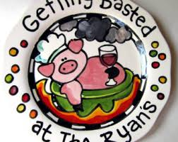 grill platter personalized pig platter etsy