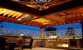 kitchen rustic outdoor kitchens with natural stones fireplace and