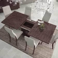 italian extendable dining table high gloss dining table extending prestige umber birch sale italian