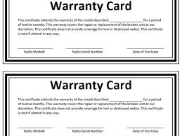 warranty certificate template microsoft word templates warranty