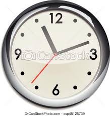 horloge de bureau mur horloge bureau horloge bureau mur isolé vecteurs