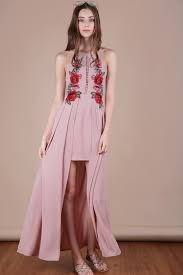 pink dress embroidery dress dusty pink the tinsel rack