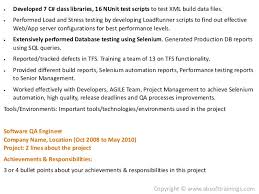 Testing Tools Resume Real World Selenium Resume Which Gets More Job Interviews