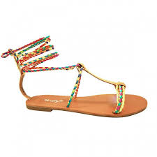goldmulti manmade janenn braided t strap sandal with knee high laces
