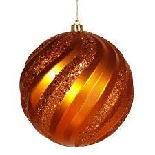 buy set of 2 burnt orange glitter snowflake ornaments