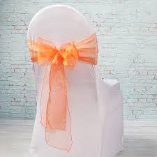 organza chair sashes orange organza chair sashes 7 x 108