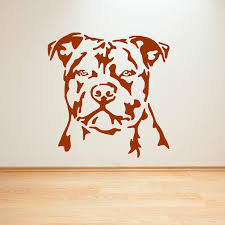 Wall Art Stickers by Staffordshire Bull Terrier Dog Vinyl Wall Art Sticker Decal Staffy