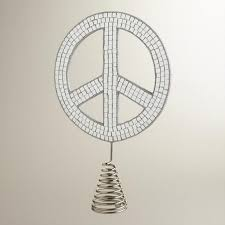 mirror peace sign tree topper market