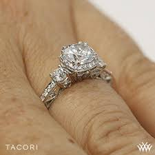 Tacori Wedding Rings by Tacori 2623rdsm Dantela Three Stone Engagement Ring 2602