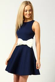 boo hoo clothing penelope skater dress with bow detail ebay
