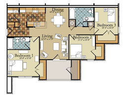 3 Bedroom Flat Plan Drawing by 14 Best Images Of Modern 3 Bedroom Apartments Floor Plan Small 3